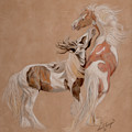 Gypsy Horses At Play by Gail Finger