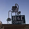 H And C Coffee Sign Roanoke Virginia by Teresa Mucha