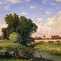 Hackensack Meadows - Sunset by George Snr Inness