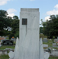Hank Williams Sr. Headstone by Carolyn Postelwait