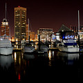 Harbor Nights - Trade Center In Focus by Ronald Reid