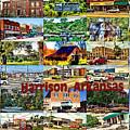 Harrison Arkansas Collage by Kathy Tarochione