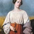Harvester Holding Her Sickle by AJB Hesse