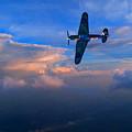 Hawker Hurricane On Dawn Patrol by Chris Lord
