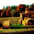 Hay Bail Tractor  by Marsha Heiken