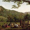Haymakers Picnicking In A Field by Jean Louis De Marne