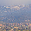 Hazy Low Cloud Morning Boulder Colorado University Scenic View  by James BO  Insogna