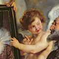 Henri Iv Receiving The Portrait Of Marie De Medici by Rubens