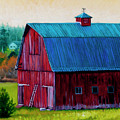 Henry Strong Barn Circa 1928 by Stacey Neumiller