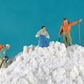 Hiking On Flour Snow Mountain by Paul Ge