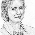 Hillary Clinton Pencil Portrait by Rom Galicia