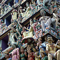 Hindu Temple In Singapore by Carl Purcell