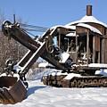 Historic Mining Steam Shovel During Alaska Winter by Gary Whitton