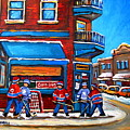 Hockey Game At Wilensky's by Carole Spandau