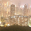 Hong Kong Harbor From Mt. Victoria by Britta Loucas