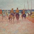 Horseman On The Beach by Paul Gauguin