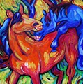 Horses Playing by Dianne  Connolly