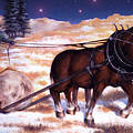 Horses Pulling Log by Curtiss Shaffer