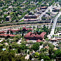Hot Springs Spa At Glenwood Springs - A Birds Eye View by Christine S Zipps
