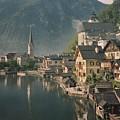 Houses Line The Lake Of Hallstatt by W. Robert Moore