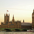 Houses Of Parliament From The South Bank by Sharon Vos-Arnold
