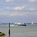 Hovercraft Passing Ryde Harbour Mouth by Rod Johnson