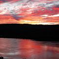 Hudson River Sunrise by Sandra Dunlap