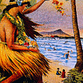 Hula Flower Girl 1915 by Hawaiian Legacy Archive - Printscapes