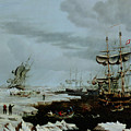 Hull Whalers In The Arctic  by Thomas A Binks