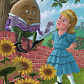 Humpty Dumpty On Wall With Alice by Martin Davey
