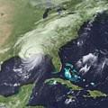 Hurricane Katrina Over Southeast by Everett