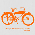 I Thought Of That While Riding My Bike by Naxart Studio
