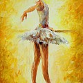 In The Ballet Class by Leonid Afremov