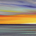 In The Moment Panoramic Sunset by Gina De Gorna