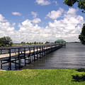 Indialantic Pier On The Indian River Lagoon In Central Florida by Allan  Hughes