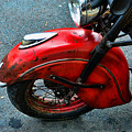 Indian Motorcycle Fender In Red by Paul Ward