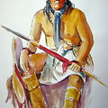 Indian With Spear by Murray Keshner