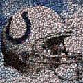 Indianapolis Colts Bottle Cap Mosaic by Paul Van Scott