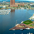 Inner Harbor Baltimore Panorama by Thomas Marchessault