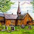 Innset Kirke -- Norway by Carol Allen Anfinsen