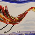 Inspired By Calder's Only Only Bird by Mary Carol Williams