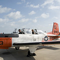 Instructor Pilot And Student In A T-34 by Stocktrek Images