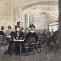 Interior Of The Concert Rouge by Henri Laurent Mouren