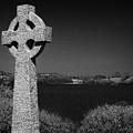 Irish Celtic Cross Overlooking Lake by Joe Fox
