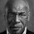 Iron Mike Tyson Drawing by John Harding