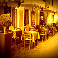Italian Cafe In Golden Sepia by Carol Groenen
