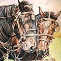 Jack And Joe Hard Workin Horses by Toni Grote