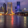 Jacksonville At Dusk by Debra and Dave Vanderlaan