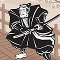 Japanese Samurai Warrior Sword On Bridge by Aloysius Patrimonio