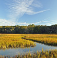Jekyll Island Marsh High Tide And Sky by Bruce Gourley